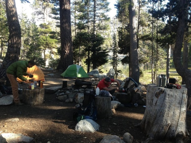 Camp Setup and Cooking at Maggie Lakes