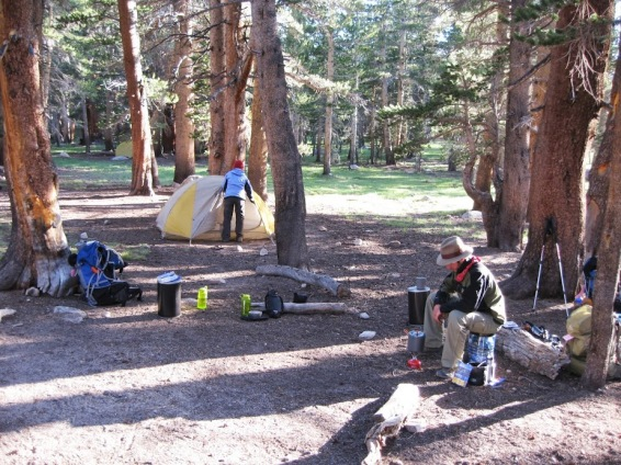 Cooking and Breaking Down Camp at Crabtree Meadow
