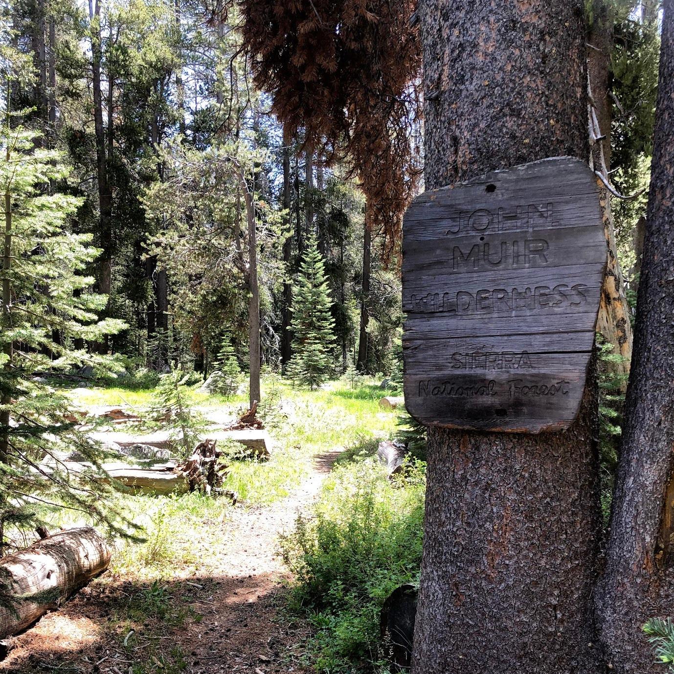 JMT Wilderness Sign